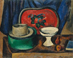 Still Life. Salver and green bandbox. 1912