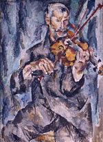 Portrait of the Violinist G. Romashkov. 1918